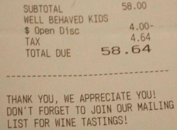 """Sconto al ristorante per """"bambini beneducati"""""""