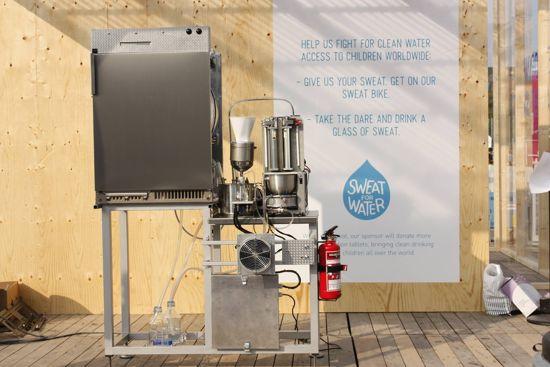 Svedesi inventano una macchina che trasforma il sudore in acqua potabile (1)