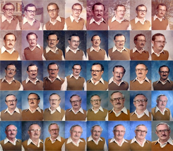 Insegnante indossa lo stesso abito per la foto dell'annuario per 40 anni