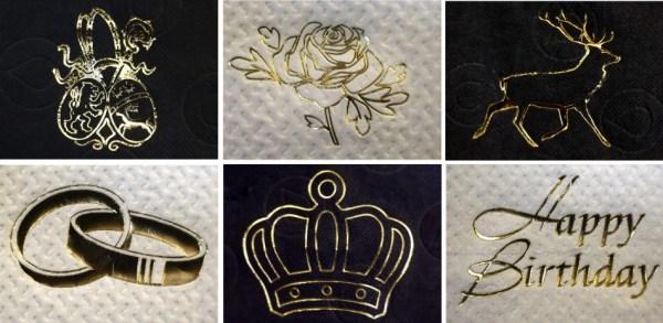 Carta igienica decorata con motivi in oro 24 carati (2)