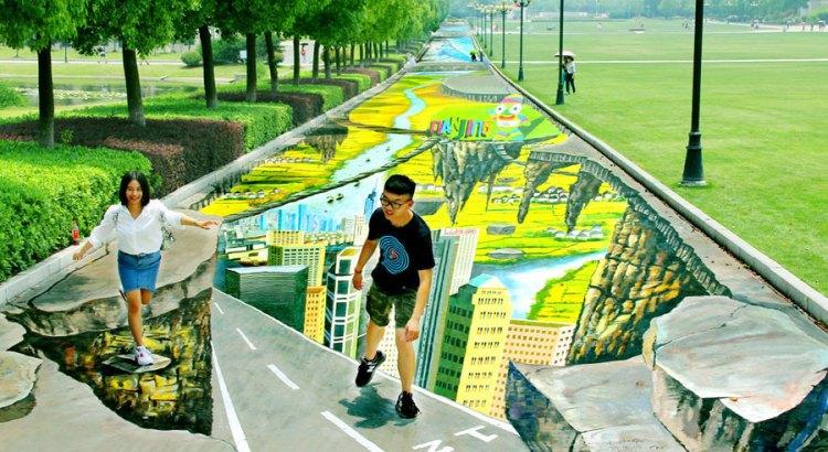 Dipinti da record in 3D in Cina (2)