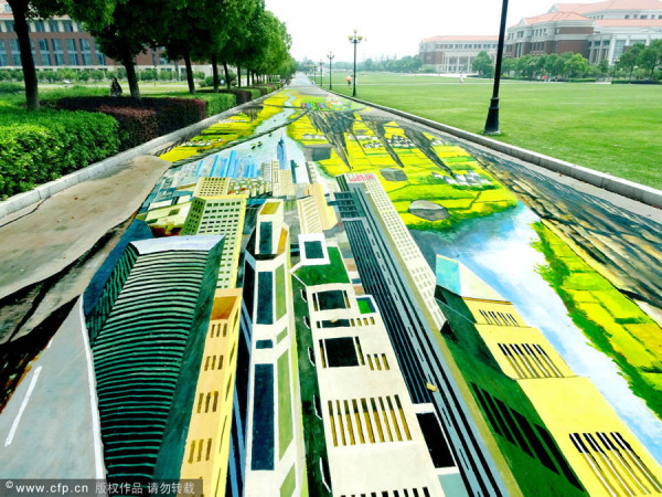 Dipinti da record in 3D in Cina (1)