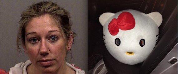 Arrestata per guida in stato di ebbrezza - vestita da Hello Kitty