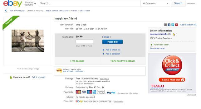 Vende il suo amico immaginario su eBay