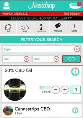 Nestdrop App: ordinare marijuana a domicilio
