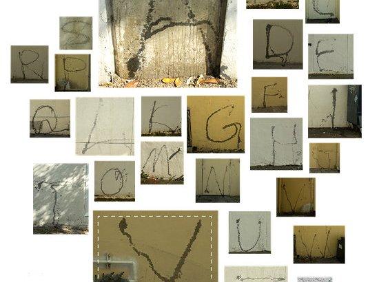 Crea un font per il suo sito orinando sui muri