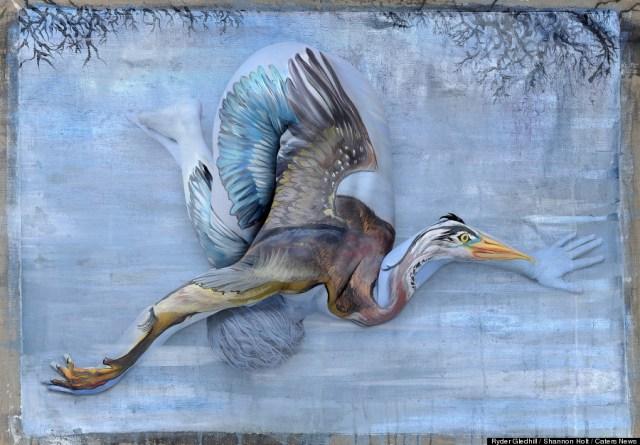 Shannon Holt - body painter, ritratti di animali su corpi umani (3)