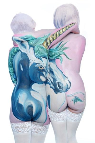 Shannon Holt - body painter, ritratti di animali su corpi umani (5)