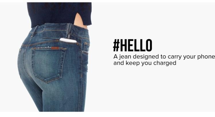 #Hello, i jeans che caricano il vostro iPhone mentre è in tasca