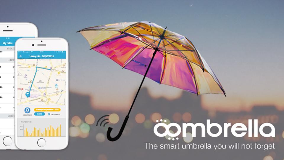 Oombrella, l'ombrello smart che notifica quando pioverà