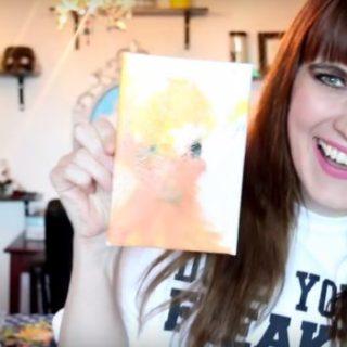 Dipinge con la vagina il ritratto di Donald Trump