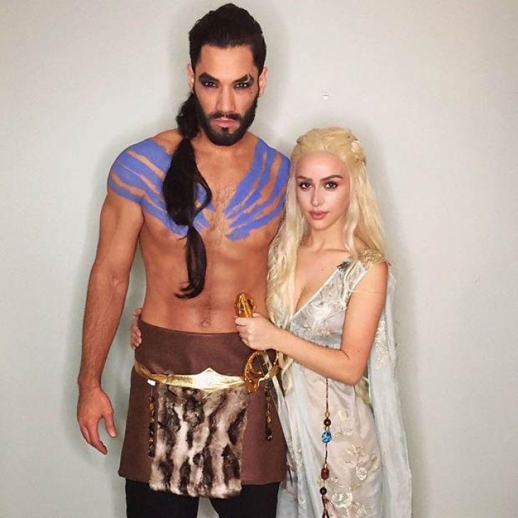 Khal Drogo e Daenerys di Game of Thrones