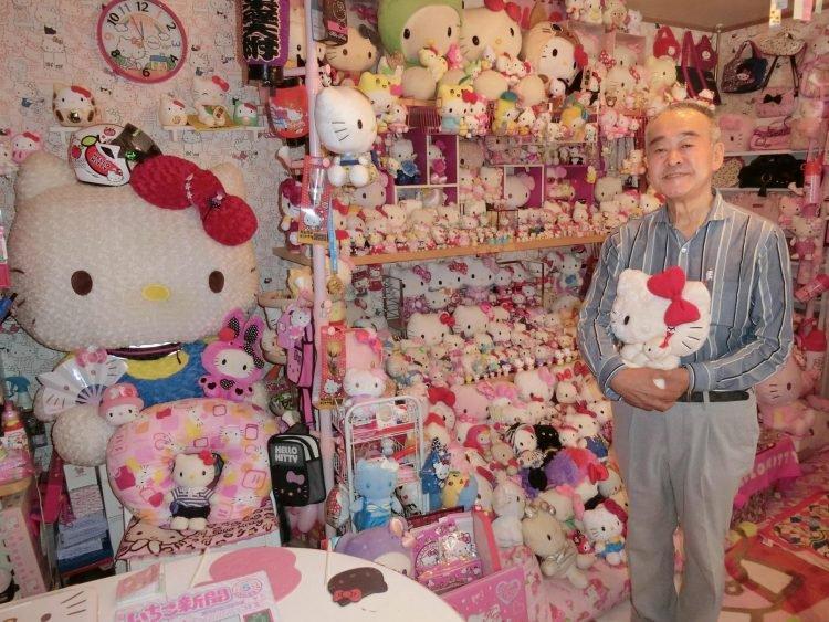 La più grande collezione di Hello Kitty appartiene a un uomo 67enne