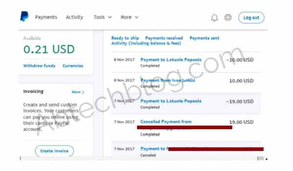 Valid PayPal account that send and receive fund