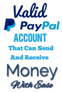 Valid PayPal Account