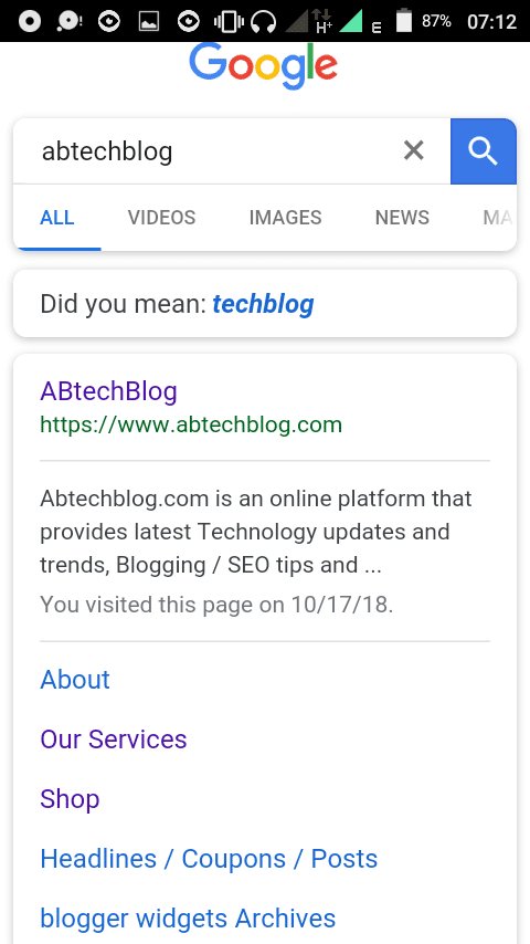 Abtechblog.com rich snippet display