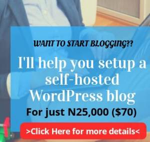 Get a professional blog site for just N25,000