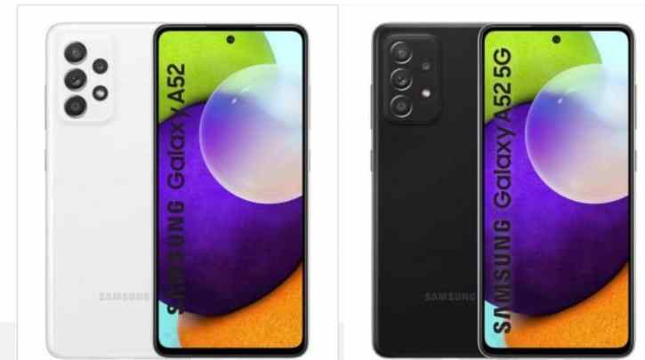Samsung Galaxy A52 4G and 5G's complete specs, design and price leaked