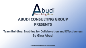 Team Building: Enabling for Collaboration and Effectiveness