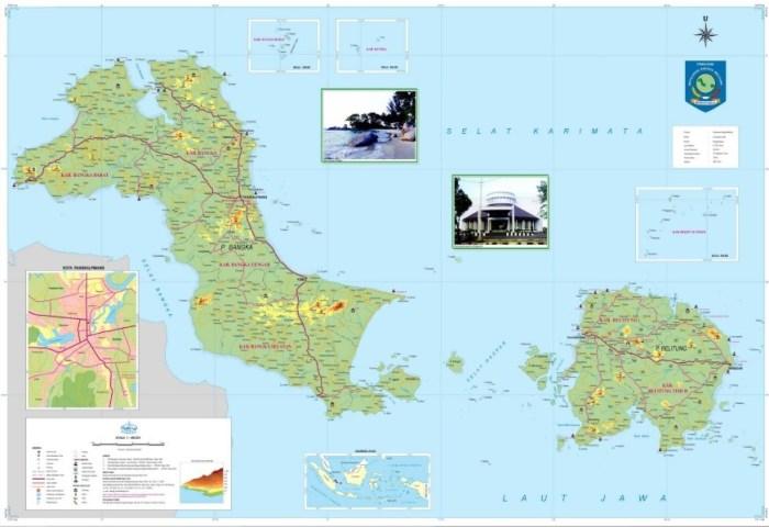 Peta Provinsi Bangka Belitung