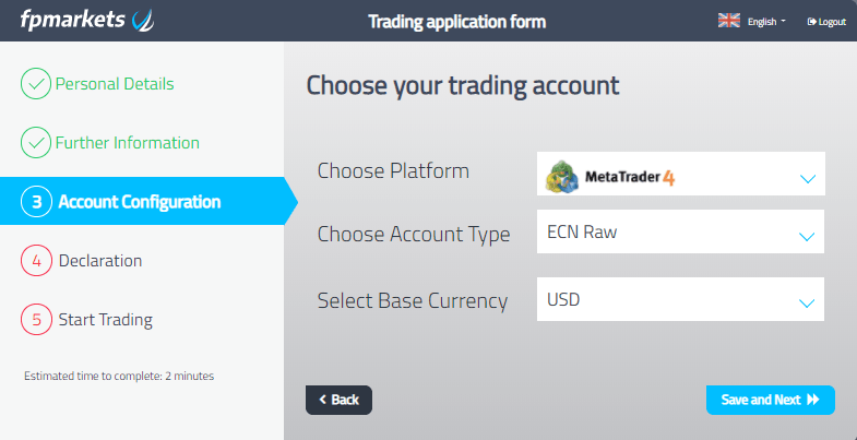 How to open a fp markets account