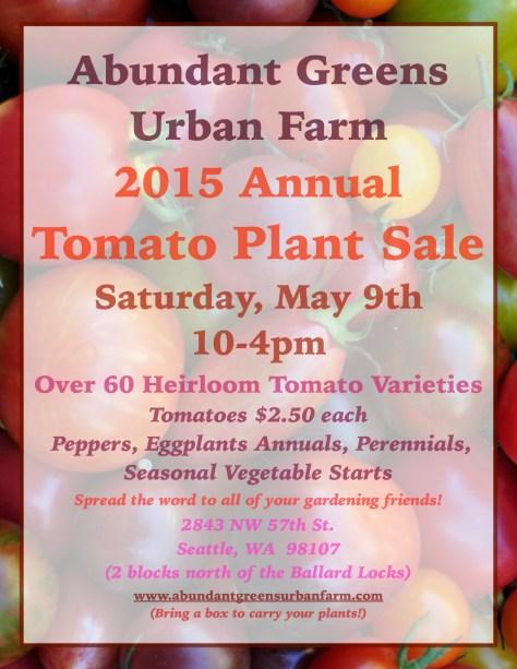 Annual 2015 Tomato Plant Sale Poster JPEG
