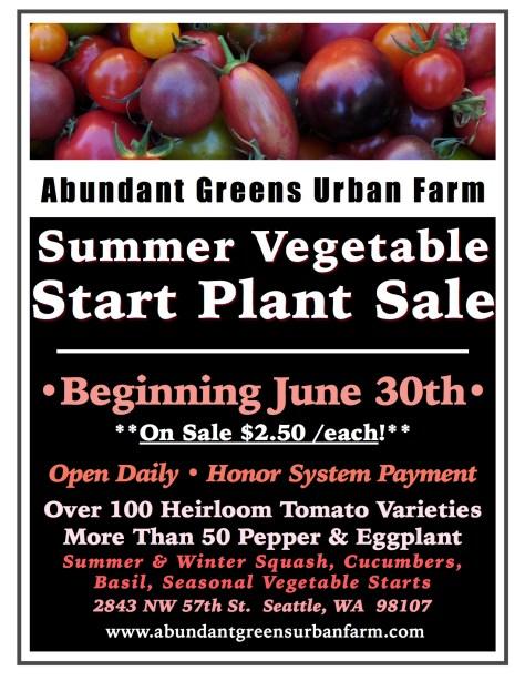 *2018 Summer Vegetable Plant Sale