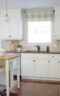 Farmhouse Kitchen Window Valance Tutorial - A Burst of ...