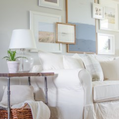 White Slipcovered Sofa Living Room Beautiful Rooms Pictures Why We Chose A Burst Of Looks Casual And Relaxed In This Charming Farmhouse Learn