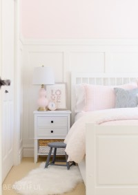 Sweet Pink and White Little Girl's Bedroom