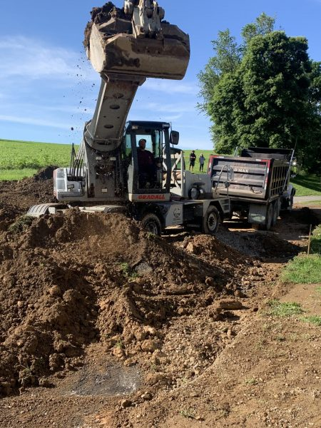 Gradall Excavation