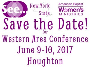 Save the Date Western Area Conference June 9-10, 2017
