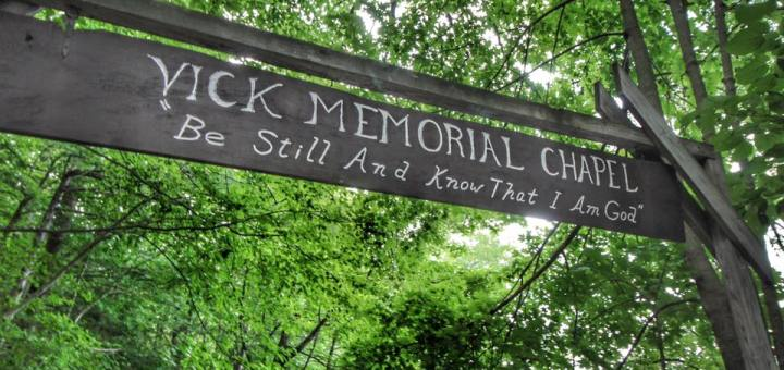 picture of the entrance to Vick Memorial Chapel at Pathfinder
