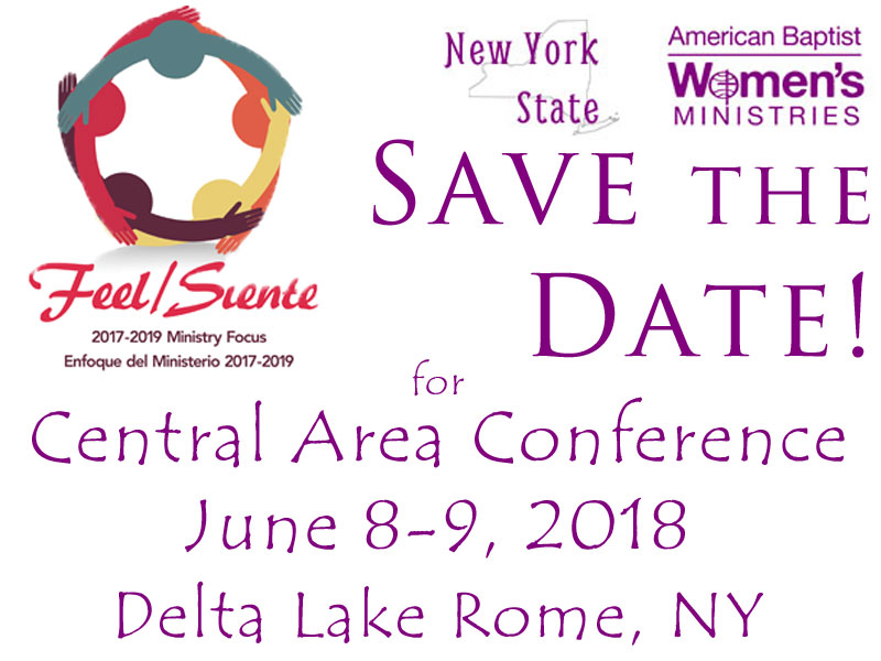 2018 Save the Date Central Area Conference