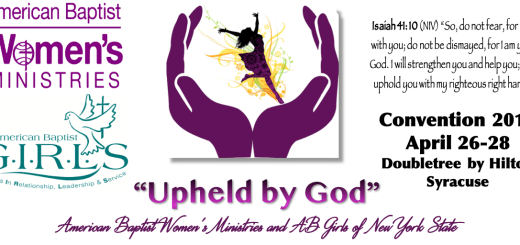 header for convention 2019, Upheld by God, ABWM of NYS and AB GIRLS