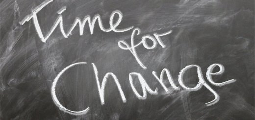 chalkboard writing in cursive saying, Time for Change