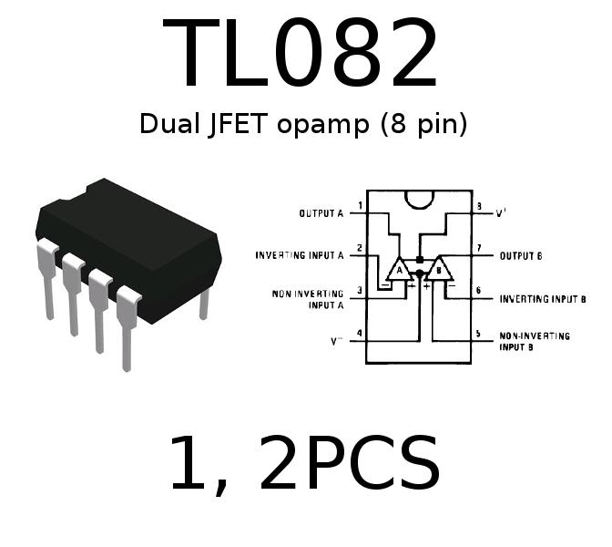 TL082 TL082cp Dual Low Distortion J-FET Input Opamp 1/2PCS