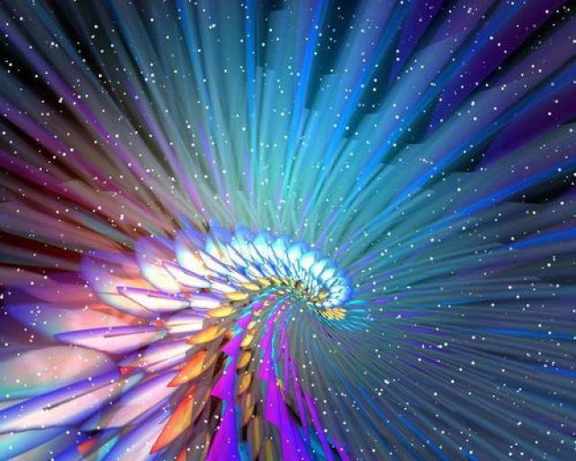 fractal rainbow fan