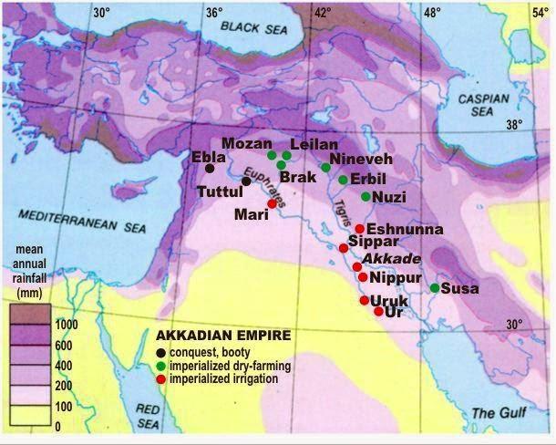 map of the Akkadian empire