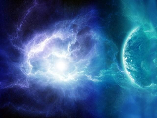 energy wave impacting earth