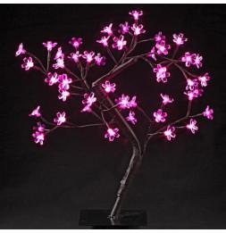 Arbre lumineux d'intérieur rose - 48 LEDs - Décoration lumineuse