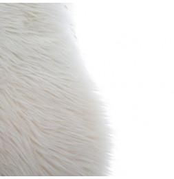 tapis fourrure blanc ivoire 90 x 150 cm