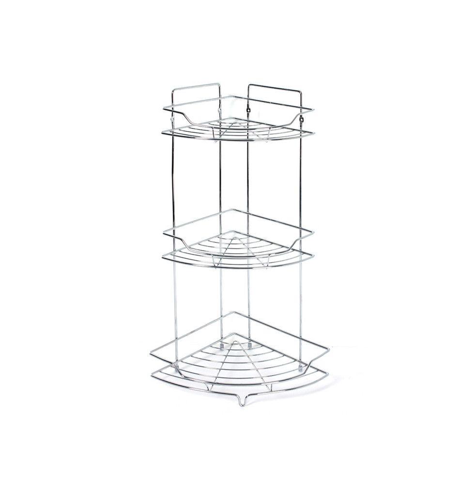 etagere d angle de salle de bain 3 plateaux a poser ou a suspendre decoration