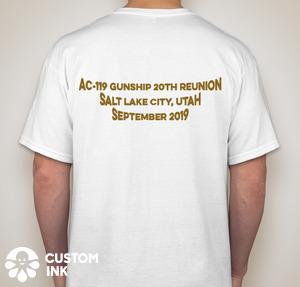 20th Anniversary Reunion T-Shirt Back - white