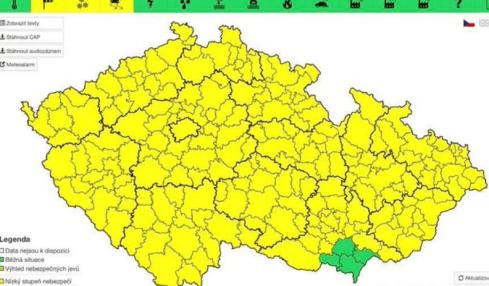silný vítr česko