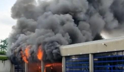 požár elektroautobusů