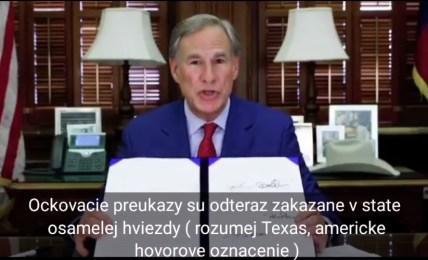 očkovací pas texas