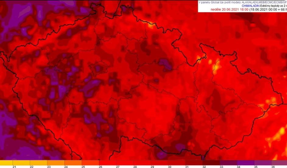 tropické teploty česko