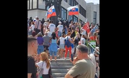 slovensko protest