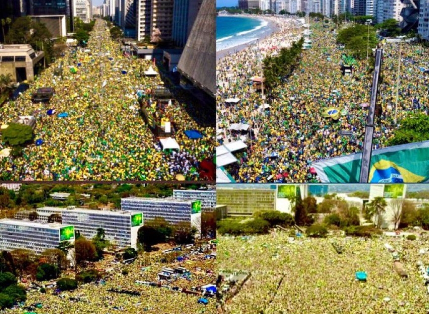 bolsonaro protest brazílie